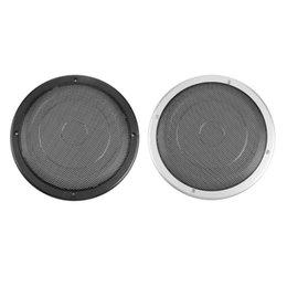 "2019 alto falante VODOOL 8 ""Car Stereo Speaker Audio Metal Cobertura de Malha Auto Subwoofer Chifre Grade Protetora Tampa Interior Acessórios de Estilo de Carro"