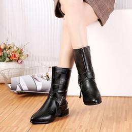 2019 koreanische mode-stiefeletten Leichte Stiefel Bottes Femmes Plateauschuhe High Heels Frauen Stiefeletten Größe Schuhe koreanische Version Damenmode günstig koreanische mode-stiefeletten