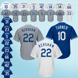 920cc725b 2018-2019 Los Angeles Dodgers Jerseys 10 Justin Turner 22 Clayton Kershaw 3  Chris Taylor 23 Adrian Gonzalez 66 Yasiel Puig