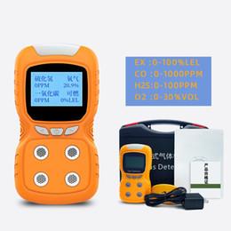 Alarme do monitor da bateria on-line-Portátil Clipe multi Gas Gas Detector 4-Gás GLP / CO / O2 / H2S Alarm Monitor de detecção de bateria Household Alarm