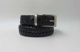 Cinturón trenzado Pantalones Cinturones Correa de vestir envejecida Jean Vintage Cuero marrón negro Correa tejida de cuero de vaca para hombres y mujeres Los mejores regalos desde fabricantes