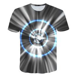 Звуковые активированные майки онлайн-2019 Sale Sound Activated LED Футболка с подсветкой вверх и вниз Мигающий эквалайзер EL Футболка Мужчины для Rock Disco Party DJ футболка с круглым вырезом