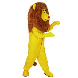 traje de león amarillo Rebajas Nuevo león amarillo traje de la mascota de disfraces personalizados traje de la mascota de dibujos animados traje de carnaval