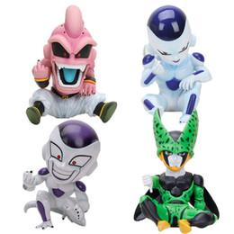 dragão bola z célula ação figuras Desconto 11 cm Anime Dragon Ball Lutador Z Majin Celular Pvc Action Figure Brinquedos Modelo Kid Buu Freeza Frieza Fina De C19041501
