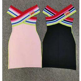 vestido corto de cuero sexy más tamaño Rebajas Nueva llegada para mujer Vestidos de diseñador de punto de marca Vestidos de mujer 2019 Mujeres de lujo Letra F Vestido de verano Tops de moda Vestido