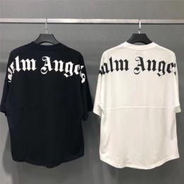 2019 estilo de beisebol camisetas mulheres Palma anjo mangas morcego hip homens hop designer de camisetas wome tshirt camisetas carta de impressão de tamanho grande para casais camisas