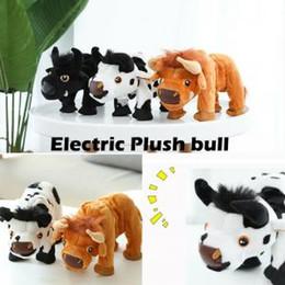 suoni animali per i bambini Sconti 15 cm toro elettrico a piedi mucca giocattoli di peluche sordo suono farcito animale toro giocattolo per bambini regalo favore di partito novità giochi ffa1554
