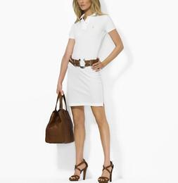 Sıcak satış Tasarımcı Kadınlar Elbise Ralph siyah beyaz KISA Kollu Womne Elbise Ünlü Stil kızlar POLO etek S-XL Elbise supplier girl hot black skirt nereden kız sıcak siyah etek tedarikçiler
