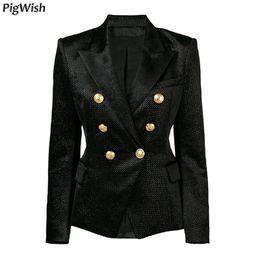 2019 jaqueta prateada feminina Glitter lantejoulas jaquetas formais 2018 designer de blazer das mulheres de metal leão botões de prata shimmer veludo blazer casaco de negócios desconto jaqueta prateada feminina