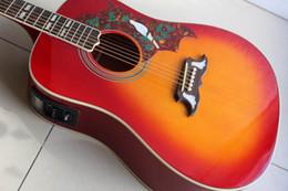 2019 12 string solid body e-gitarre Freies Verschiffen 2019 Gibsondove vorbildliche Tauben-akustische elektrische Gitarre hergestellt von der festen Ahornholz-Tannenspitze, Qualität im Kirschstoß 120130