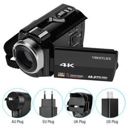 """2019 verstecke kamerataschen VBESTLIFE 4K Wifi Digitalkamera Nachtsicht Camcorder 16X Zoom 48MP 3 """"mit Akku"""
