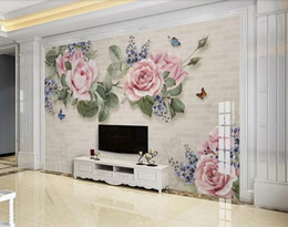 oil absorbing papers Promo Codes - Custom Photo Wallpaper Mural 3D European modern minimalist hand-painted oil Wall Decorative Painting papel de parede wall papers home decor