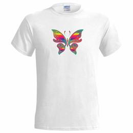Дизайн красной футболки онлайн-Psy Butterfly Art Design Мужская футболка Психоделическая красавица дикая природа гордость вечеринка белый черный серый красные брюки футболка