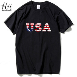 vestiti da hip hop usa Sconti HanHent USA Bandiera americana da uomo T-shirt in jersey di design Maglietta nuova moda Hip Hop Fitness Abbigliamento da uomo a maniche corte