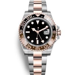 Argentina 2019 Nuevos deportes Relojes de moda Reloj para hombre GMT Reloj automático para hombre del jubileo Reloj de pulsera Orologio di Lusso Orologi da Uomo Azul Negro Hombres Suministro