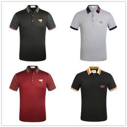 22020 Europeia Novapoloshirt Bee camisas bordados T para Mens Tops mangas curtasGuccicasuais camisetas respirável M - 3XL de Fornecedores de filmes velhos do dia das bruxas
