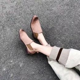 2019 diseñador de ballet Hot Sale-primavera y otoño nuevo 100% de las mujeres del cuero plana poco profunda Diseñador Boca de lujo solo zapato suave Sole Ballet tiempo de ocio casual n0720 diseñador de ballet baratos