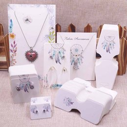 New Diy 100pcs Jewelry Set Package Cards Paper Necklace Bracelet Hair Ornaments Display Tag Card Stud Drop Earring Tag Cards