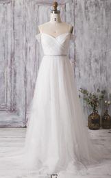 A-Line, plus la taille robe de mariée robe de mariée l'épaule chérie bretelles spagetti robe de mariée LWD068 ? partir de fabricateur