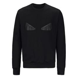 Nuovo progettista con cappuccio in cotone Donne Felpa con cappuccio da uomo maglione manica Black Eyes lungo di modo della stampa del pullover Streetwear sweatershirt da