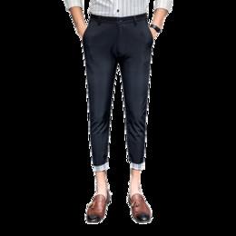 Männer kontrastfarben anzug online-Anzug Hosen Sommer Männer schlanke einfarbige Freizeithose Herrenmode Plaid Kontrastfarbe einfache Füße neun Punkte Hose