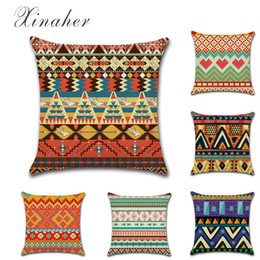 Deutschland African print theme totem geometrie Baumwolle Leinen Dekokissen Kissenbezug Car Home Decoration Sofa Kissenbezug cheap african print cushions Versorgung