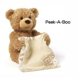 2019 gros porte-clés de ours en peluche Le nouveau style de vente chaude Bear Peekaboo Bear parlera du jouet en peluche électrique Teddy Bear