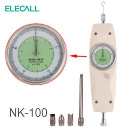 Jauge de poussée en Ligne-ELECALL NK-100 Dynamomètre analogique Instruments de mesure de la force Testeur de poussée Testeur de force analogique Push Push Gauge Mètre