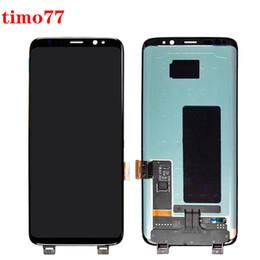 Orijinal% 100 test edilmiş LCD Ekran Dokunmatik Ekran Sayısallaştırıcı Yedek Parça İçin Samsung Galaxy S8 G950 G950A G950F G950T G950V ücretsiz DHL nereden asus dokunmatik ekran onarımı tedarikçiler