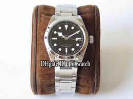 Melhor pulseira de relógio de aço inoxidável on-line-Best Edition Black Bay 36 KRF M79500-0007 Caixa em aço Mostrador preto Eta2824 A2824 Relógio de homem automático Pulseira de aço inoxidável hi_watch A01