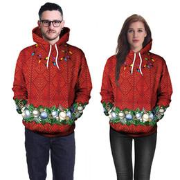 2020 sudor de navidad Navidad sudaderas hombres y mujeres de impresión en 3D rojo para hombre casual con capucha suelta Sweat Homme Hip Hop Tops XXL tamaño asiático rebajas sudor de navidad