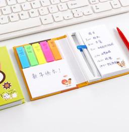 Combinaison de papeterie petit costume de post-it frais multicolore autocollant bloc-notes créatif coquille dure bloc-notes avec un stylo ? partir de fabricateur