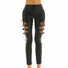leggings de pé preto Desconto 2018 19 novas calças bela L couro preto pés femininos calças leggings calças apertadas pés Buckl epreety de melhor qualidade