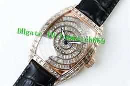 Schwarzer diamantstift online-DM New Luxury Uhr ETA2824 Automatikuhrwerk Saphirglas Rose Gold Fall Schwarz Kalbsleder Strap Pin Schnalle Diamant Herrenuhr