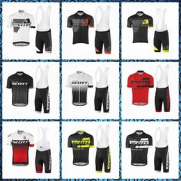 SCOTT verão Ciclismo Mangas Curtas jersey bib Respirável calções conjuntos tendência venda quente zíper Lazer T-shirt 60904X de Fornecedores de q cubo
