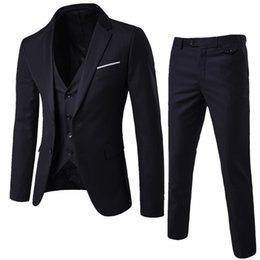 New Wedding Suit a tre pezzi Fashion Suit da uomo Giacca Business Casual Suit Abiti formali Business Men Wear Abito da sposa da