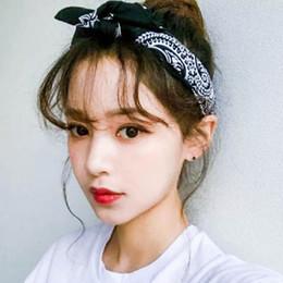 2019 accessori dei capelli all'ingrosso giapponese Accessori per capelli coreano chic anacardi fiore piazza sciarpa di seta in Giappone e Corea del Sud strada hip hop moda fascia per capelli all'ingrosso accessori dei capelli all'ingrosso giapponese economici