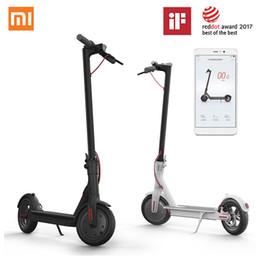 Scooters électriques de planche à roulettes en Ligne-Nouveau scooter électrique Xiaomi Mi chaud Mijia M365 Smart E Scooter Skateboard Pliable Hoverboard Patinete Electrico Adulte 30km Batterie