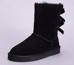Botas de neve de inverno mulheres de couro austrália clássico ajoelhar metade botas ankle boots preto cinza castanha marinha azul vermelho sapatos de menina das mulheres de
