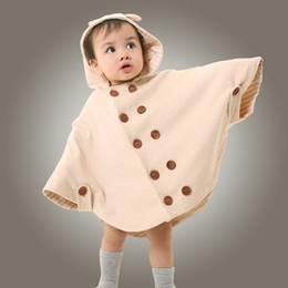 casacos orgânicos Desconto Crianças roupas de algodão colorido Orgânico primavera e outono manto do bebê, jaquetas de bebê capas vestido, Infantil dos desenhos animados quentes xale casacos