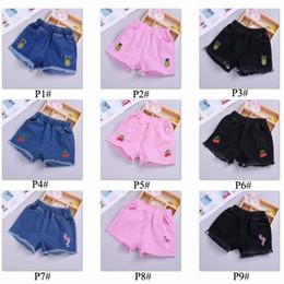 2019 mini jeans shorts meninas 9 estilos Calças de brim Do Bebê Hot new Girls Verão Shorts Denim Crianças Meninas Curtas Crianças calças crianças designer para roupas de menina C53 mini jeans shorts meninas barato