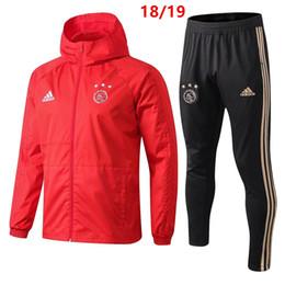 melhor venda nova 18 19 Ajax mens hoodies futebol jaqueta Mbappé tracksuits 2019 camisa de futebol sportwear CAVANI poeira casaco casaco corta-vento de Fornecedores de camisas de manga longa de couro