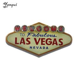2019 decorazione parete di benvenuto Benvenuti a favolosa Las Vegas Nevada metallo targhe in metallo retrò forma irregolare pittura placca bar pub club decorazione della parete di casa Tp-011 Y19061804 decorazione parete di benvenuto economici