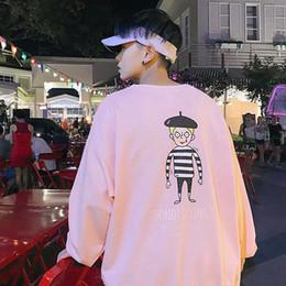 2019 sudaderas con capucha de corea para hombre Sudaderas con estampado japonés Teengaer Moda suelta Hip Hop Causal Coreano Streetwear Algodón Elegante para hombre Sudadera con capucha Sudadera con capucha de alta calidad sudaderas con capucha de corea para hombre baratos
