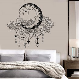 Aplique de pared de vinilo moon cloud dormitorio sala de estar home art deco wallpaper 2WS29 desde fabricantes