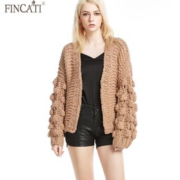 0dd375a87d cable knits Canada - Women Cardigans Fincati 2018 Autumn New Arrival V-Neck Long  Sleeve