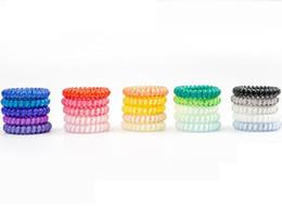 gute qualität ringe Rabatt 25 stücke 25 farben 5 cm Hohe Qualität Telefonkabel Gum Haargummi Mädchen Elastisches Haarband Ring Seil Candy Farbe Armband Gute Haargummi