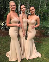 neueste abendkleider Rabatt Neueste Land Meerjungfrau Brautjungfer Kleider Sexy Schatz Hochzeit Gast Party Abendkleider Nach Maß 2019 Günstige BM0690