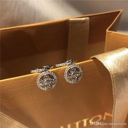 2019 lustre cristal gotas por atacado L brincos de luxo de quatro folhas cloVer diamante famosa marca orecchini designer de jóias brinco do parafuso prisioneiro fashional monogram resille earings presente