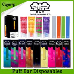 Penne vuote vuote online-Puff Bar dispositivo monouso Pod Starter Kit 280mAh Batteria 1.3ml cartuccia vuota Vape penna con sicurezza codice PK Eon Posh MR Nebbia